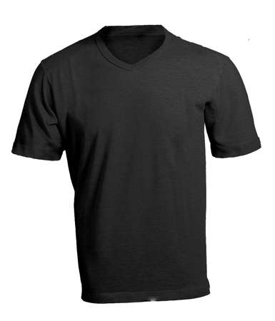 v neck: Mens Blank Black V-Neck Shirt, Front Design Template Stock Photo