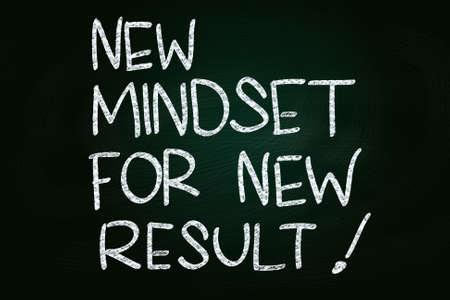 Self Development Concept, written with Chalk on Blackboard photo