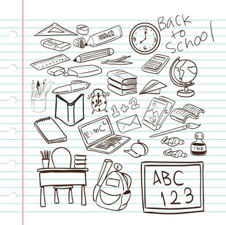 Vector illustration of Back to School Sketch Vector