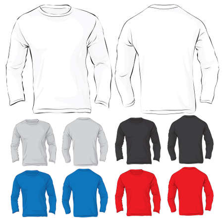 long sleeves: Vector illustration of men