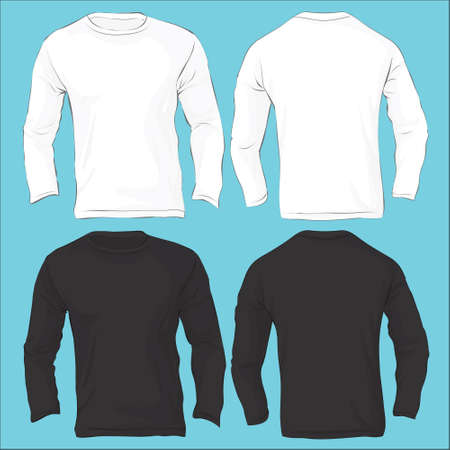 long sleeve shirt: Vector illustration of men