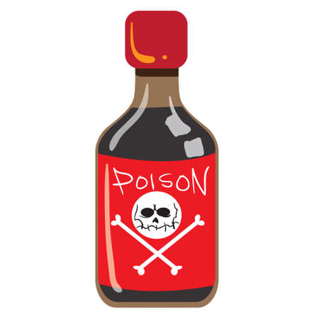 poison bottle: illustration of poison bottle isolated on white