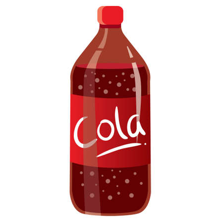 illustration of cola bottle isolated on white Vector