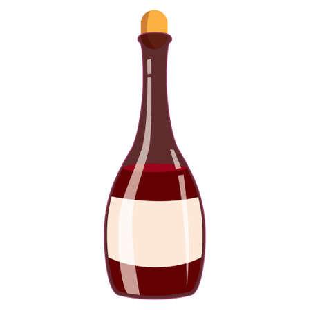 illustration of wine bottle isolated on white Illustration