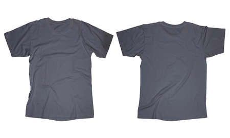Wrinkled blank dark grey blank t shirt template front and back stock photo wrinkled blank dark grey blank t shirt template front and back design isolated on white maxwellsz