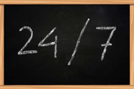 cs: 247 illustration of chalk writing on blackboard