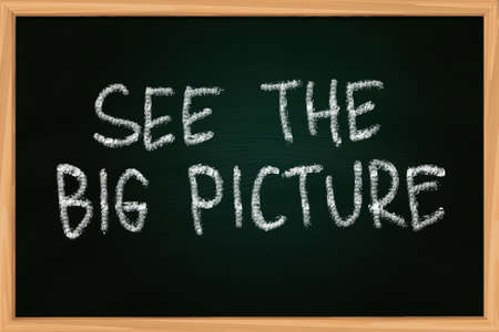 See The Big Picture illustration of chalk writing on blackboard illustration