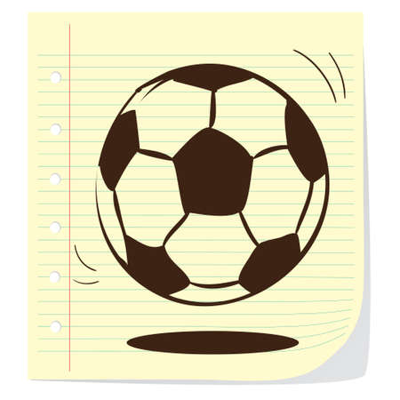 kickball: Vector illustration of soccer ball in doodle style Illustration