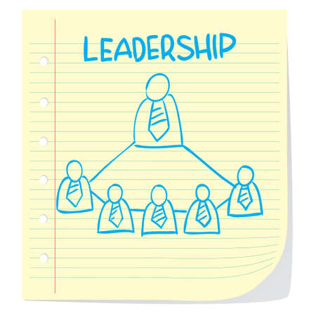 manager team: Vector illustration of leadership concept in doodle style