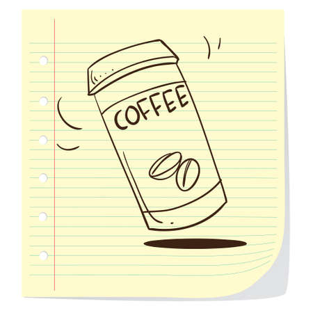 disposable: Vector illustration of coffee to go in doodle style