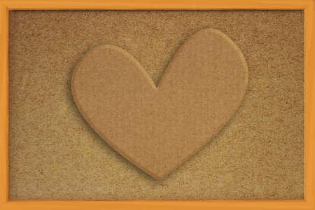 corkboard: Heart shape made of cardboard on cork board