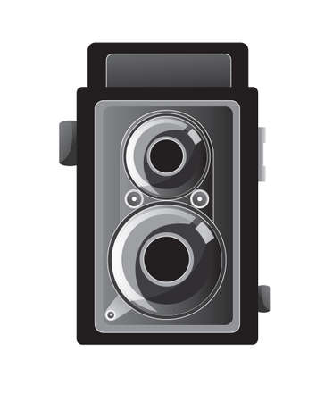 Vector illustration of retro camera isolated on white Vector