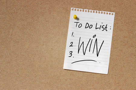 to do list: To do list win written on a note paper over a cork board