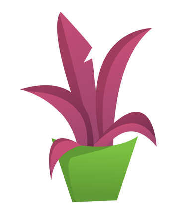 potted plant: Vector illustration of potted plant in cartoon style Illustration