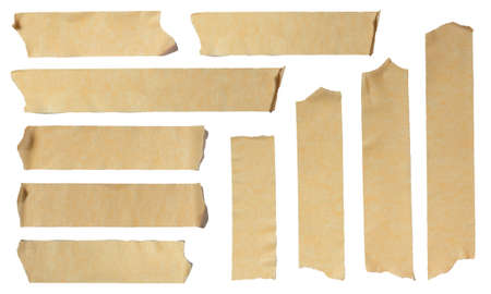 Images of Ripped Masking Tape isolated on white