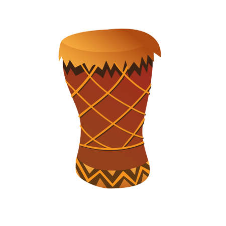 Vector illustration of Bongo Drum in cartoon style isolated on white background Vector