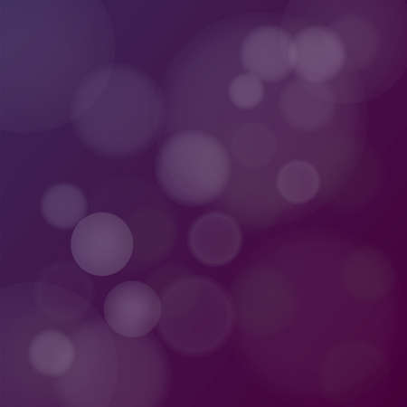 Vector illustration of Dark Purple Bokeh Background with blurry white circles Vector