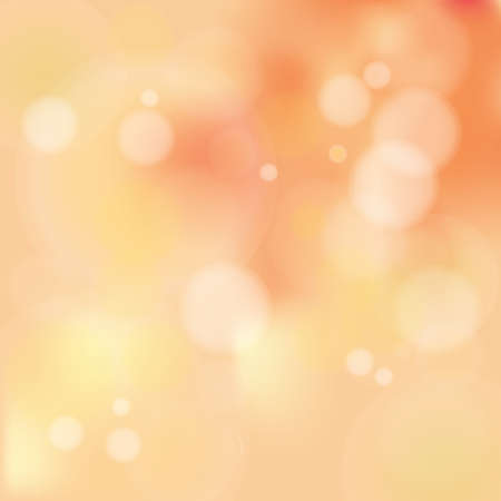 Vector illustration of Autumn Pastel Color Bokeh Background with blurry white circles Vector