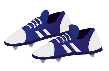 soccer shoes: Vector illustration of Soccer shoes in cartoon style isolated on white