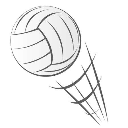 speeding: Vector illustration of Speeding Volleyball Motion in cartoon style isolated on white