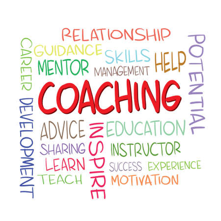 word clouds: Vector illustration of Coaching Word Clouds Concept isolated on white Illustration