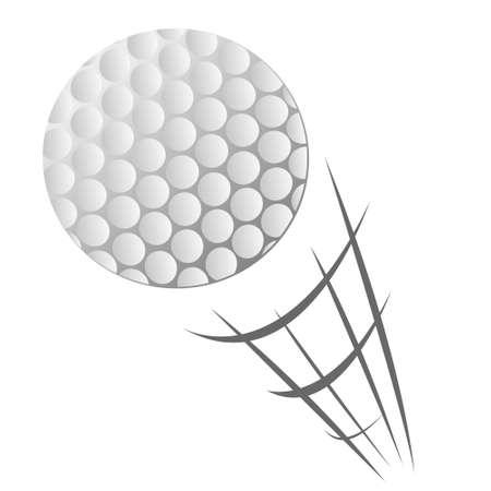Vektor-Illustration von Speeding Golfball-Bewegung im Cartoon-Stil auf weiß isoliert Vektorgrafik