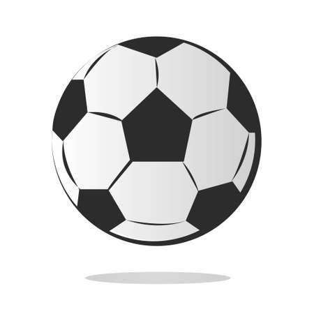exercise equipment: Vector illustration of Soccer ball in cartoon style isolated on white
