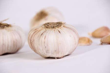 food photography: Food photography closeup photo of raw garlic