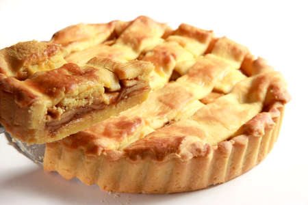 food photography: Food photography slice of an apple pie being taken