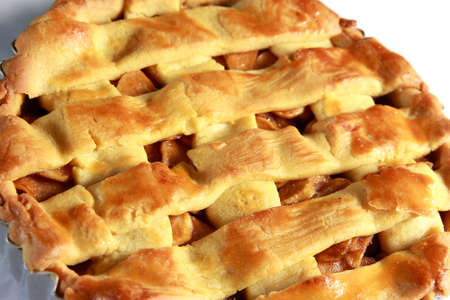 food photography: Food photography close up photo of an apple pie