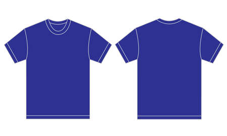 blue shirt: Vector illustration of blue shirt, isolated front and back design template for men Illustration