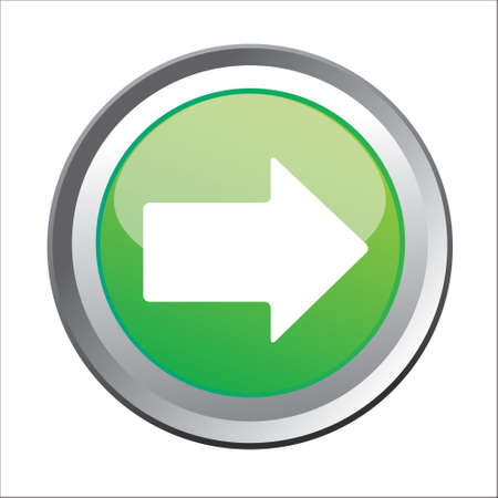 directions icon: Vector illustration of Directional Arrow button isolated on white