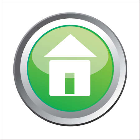 home button: Vector illustration of Home button isolated on white