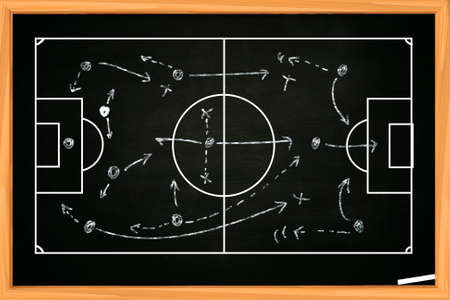 Chalk board drawing of soccer or football game strategy template chalk board drawing of soccer or football game strategy template on blackboard stock photo 49753339 maxwellsz