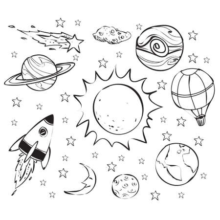 star icon: Space theme doodle