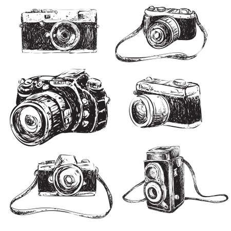 Ilustracji wektorowych kamery w stylu cartoon doodle Ilustracje wektorowe