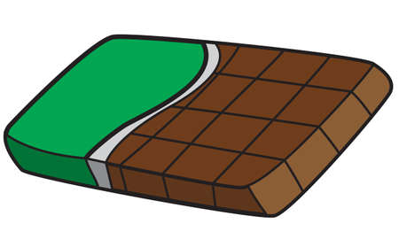 snack bar: Vector illustration of a chocolate bar in colored doodle style