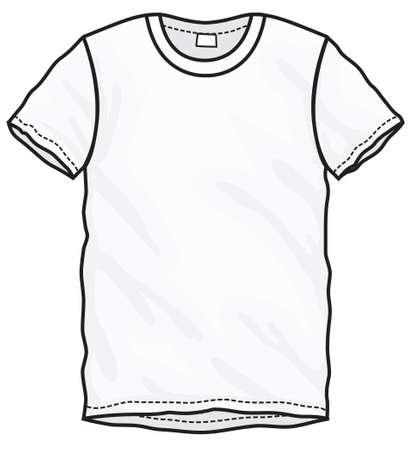 Vektor-Illustration Von Schwarzen Kurzen Ärmeln T-Shirt, Isoliert ...