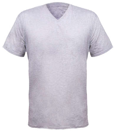 Misty Grey T-shirt Mock Up, Front And Back View, Isolated. Plain ...