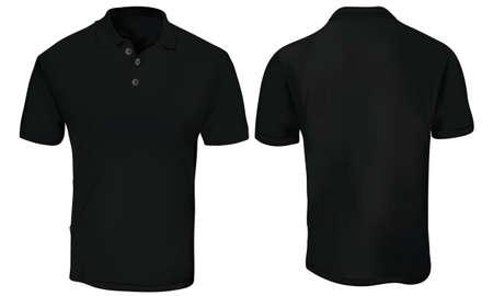 黒ポロシャツ テンプレート 写真素材 - 83667582