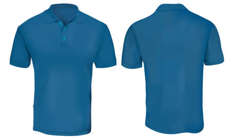 blue Polo Shirt Template