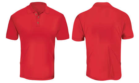 Red Polo Shirt Template