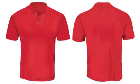 Red Polo Shirt Vorlage Standard-Bild - 83667584