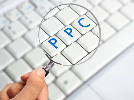 PPC Pay Per Click Internet Online Business Concept Words