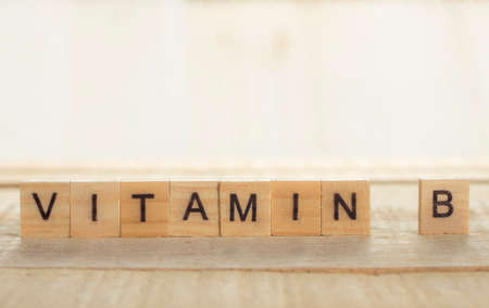 Medical and health care words writing typography lettering concept, Vitamin B 写真素材 - 114540042
