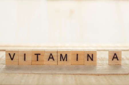 Medical and health care words writing typography lettering concept, Vitamin A 写真素材