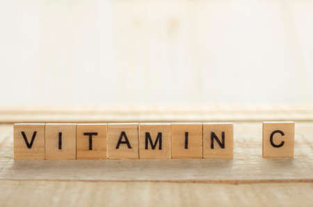 Medical and health care words writing typography lettering concept, Vitamin C 写真素材 - 114540349