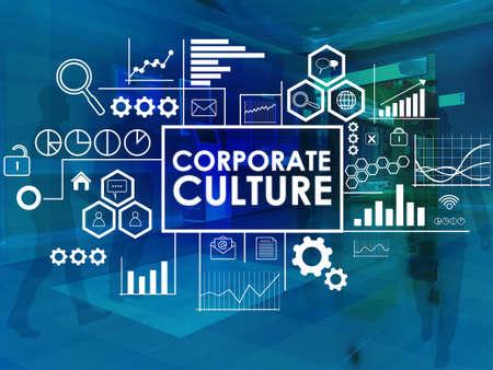 Unternehmenskultur, motivierende Business inspirierende Worte Zitate Konzept Worte Schriftzug Typografie Konzept