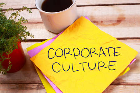 Corporate Culture, Motivational Business Inspirational Words Quotes Concept words lettering typography concept Standard-Bild
