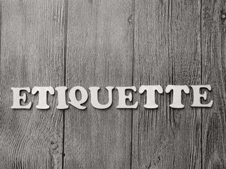 Etiqueta, citas de negocios de inspiración motivacional, concepto de letras de tipografía de palabras